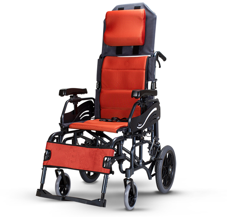 "Karma VIP 515 Lightweight Folding Tilt-in-Space Manual Wheelchair (14""Rear Wheel)"