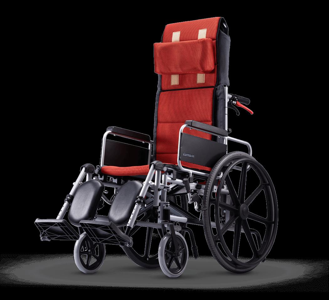 """Karma KM-5000 Premium Recline Manual Wheelchair (24""""Rear Wheel)"""