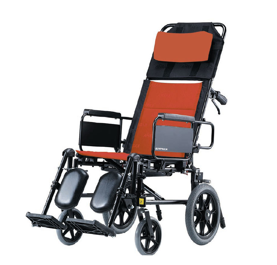"Karma KM-5000 Premium Recline Manual Wheelchair (14""Rear Wheel)"